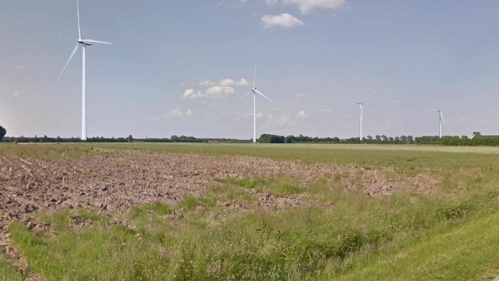 Impressie van het toekomstige Windpark De Bijvanck tussen Angerlo en Loil.