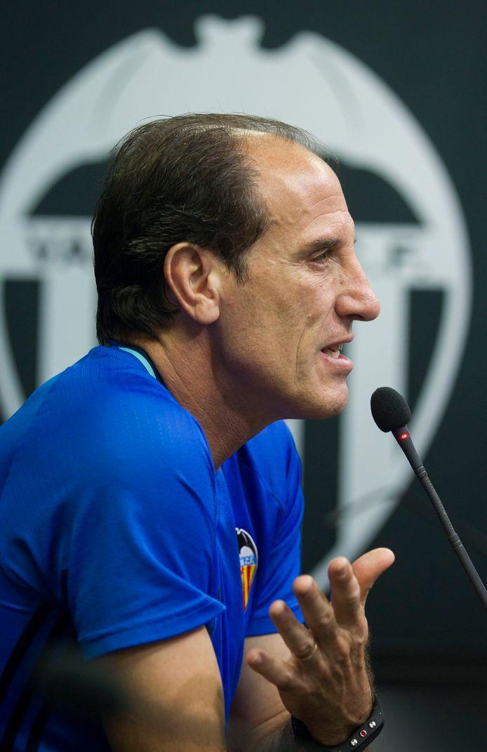 Voro als coach van Valencia in 2016.