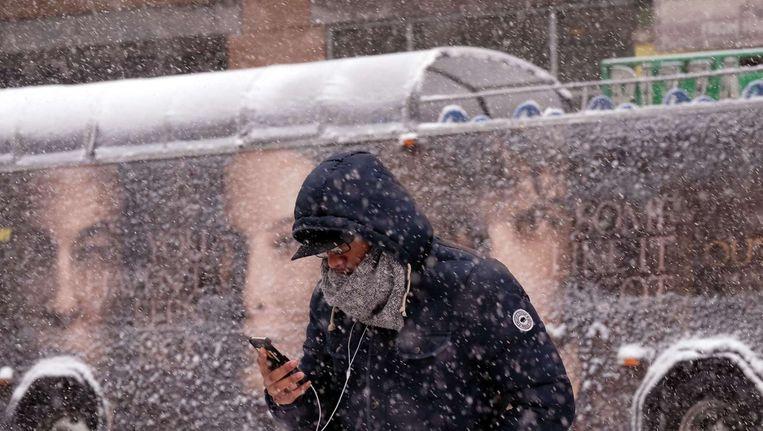 Een zware winterstorm teistert een gebied van Texas tot Boston. Beeld afp