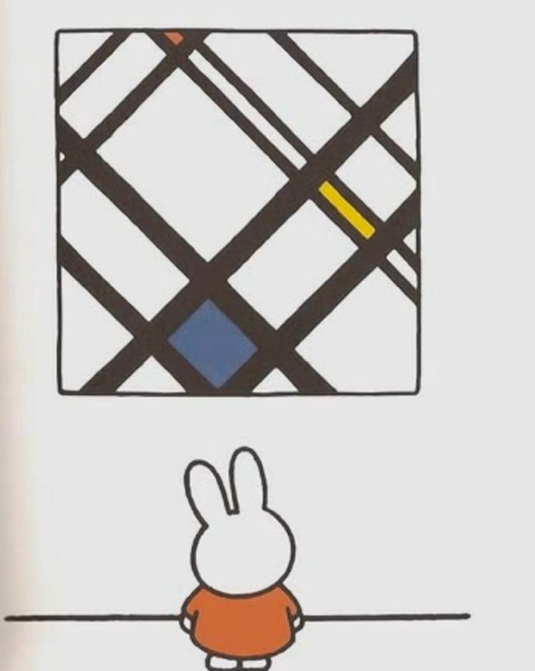 Nijntje bij een 'Mondriaan' Beeld Screenshot