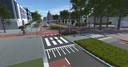 De fietsstraat (Heschepad) krijgt straks voorrang op de Raadhuislaan.