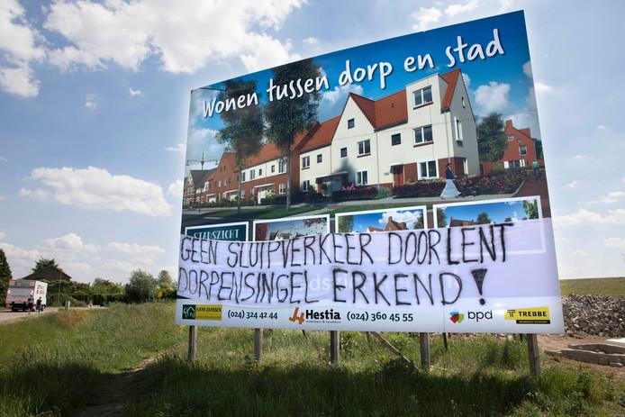 Lent voert campagne voor een dorpensingel.