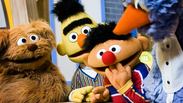 Tommie, Bert, Ernie en Pino. Beeld ANP