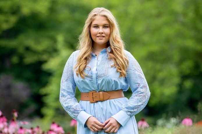 Prinses Amalia (17) in juli van dit jaar