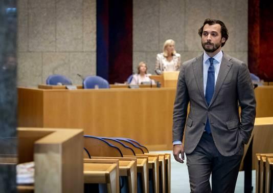 Thierry Baudet (FvD) tijdens het wekelijkse vragenuur in de Tweede Kamer.