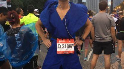 Peter Van Maele (40) net te traag voor wereldrecord marathon lopen in kankerlint