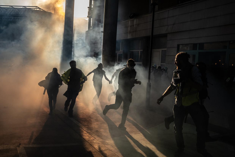 Ook afgelopen zaterdag protesteerden de 'gele hesjes' weer in Parijs.