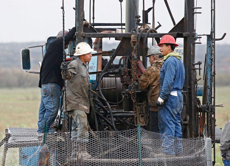 Klein olieveld in Texas. Beeld EPA