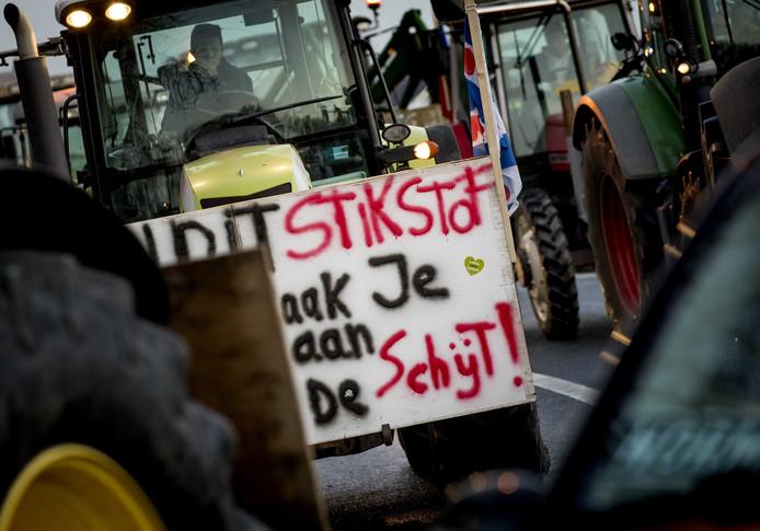 Boeren demonstreerden in december tegen het stikstofbeleid.