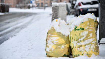 Beperktere huisvuilophaling door sneeuw