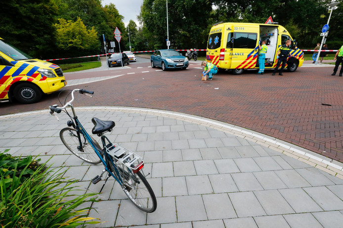 Fietser gewond in Eindhoven.