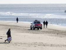Urn aangespoeld op strand van Noordwijk