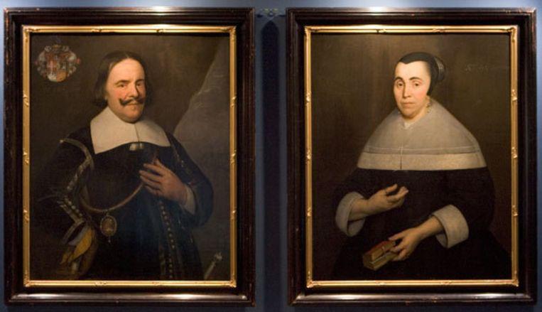Een portret van Michiel de Ruyter en zijn derde vrouw door Ferdinand Bol. Werk van Bol en andere Amsterdamse meesters is vanaf maart te zien in het Amsterdams Historisch Museum. Foto ANP Beeld