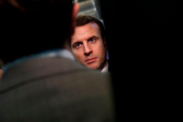 Emmanuel Macron au Salon de l'agriculture à Paris.