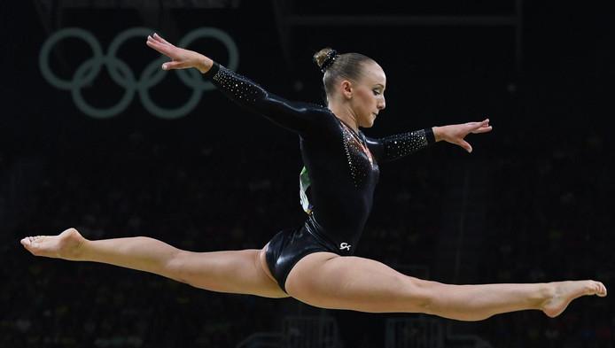 Turnster Sanne Wevers behaalde goud tijdens de Olympische Spelen.