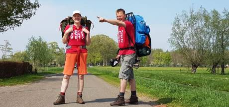 Zo ziet de wandeling van familie Metz van Liederholthuis naar Metz eruit