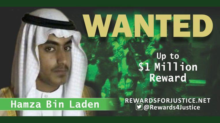 Washington verspreidde deze foto vrijdag van Hamza bin Laden.  Beeld REUTERS