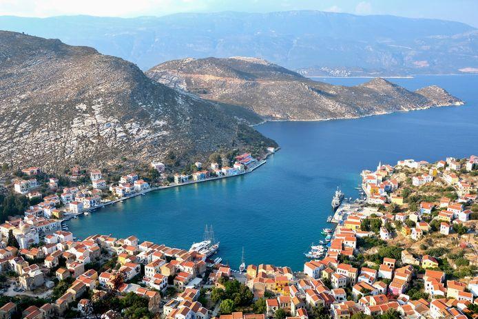De baai van het eiland Megisti (Kastellorizo).