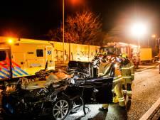 Taxichauffeur gewond afgevoerd na ernstig ongeval op N3