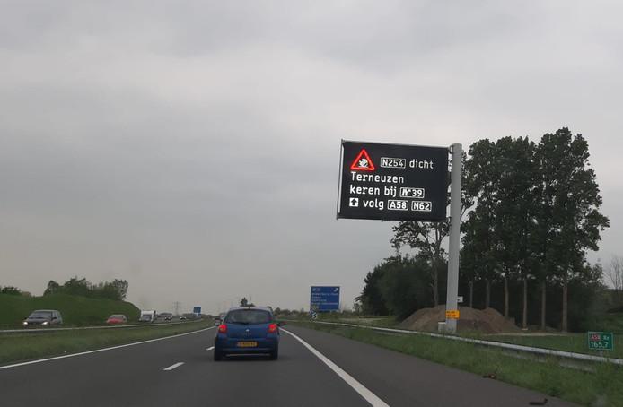 A58 bij Nieuw- en Sint Joosland.