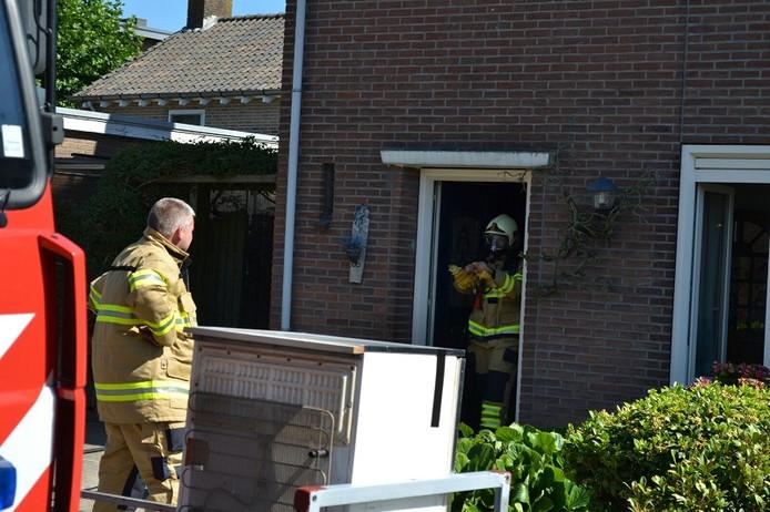 Brandweer in Van Galenstraat in Huissen