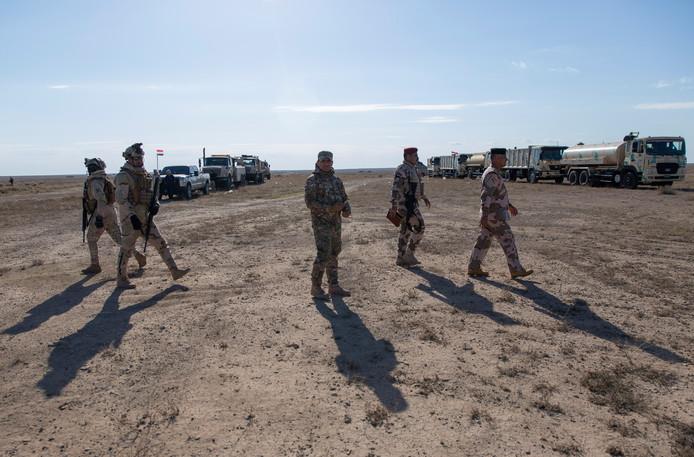 Iraakse soldaten in de provincie Anbar.