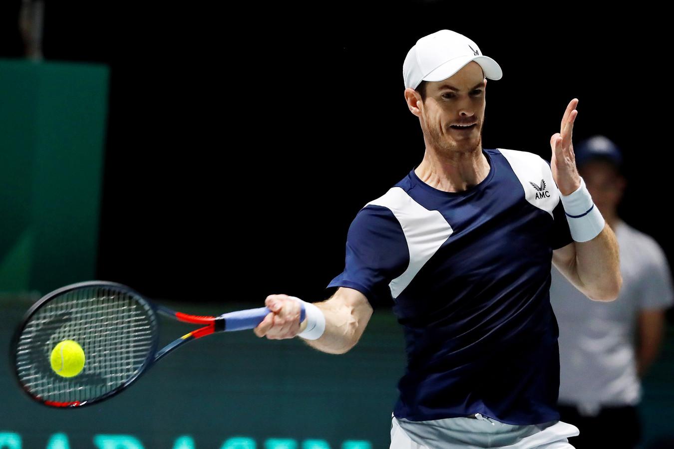 Andy Murray kwam tijdens de Davis Cup nog in actie.