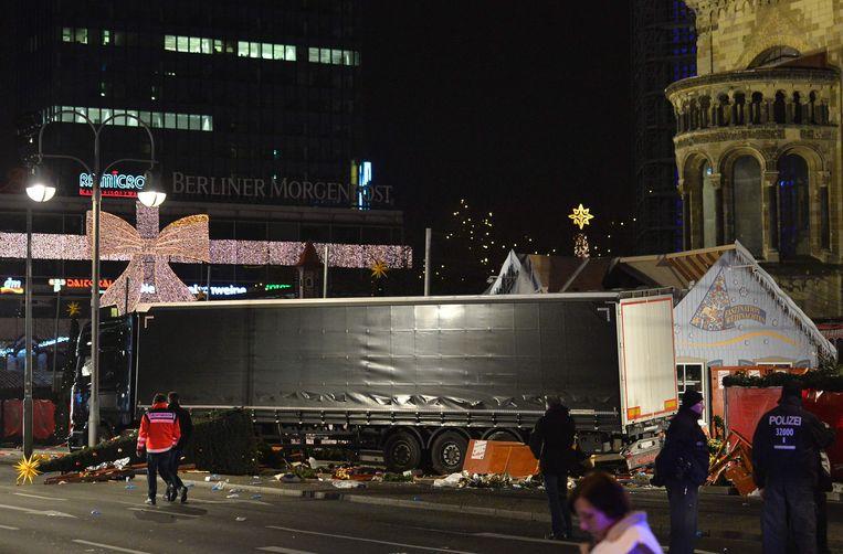 Bij de aanslag op de kerstmarkt in Berlijn kwamen 12 mensen om het leven.  Beeld AFP
