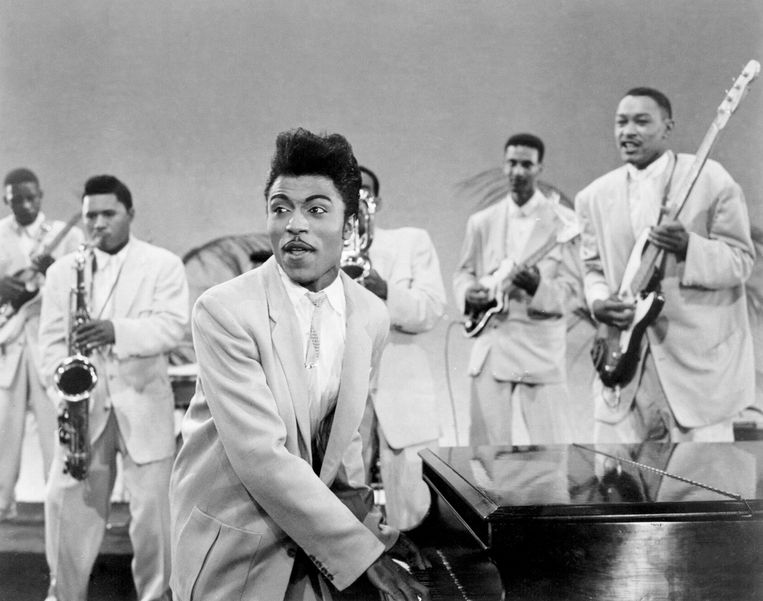Little Richard in 1957. Gisteren overleed de rock-'n-roll-legende. Beeld Michael Ochs Archives