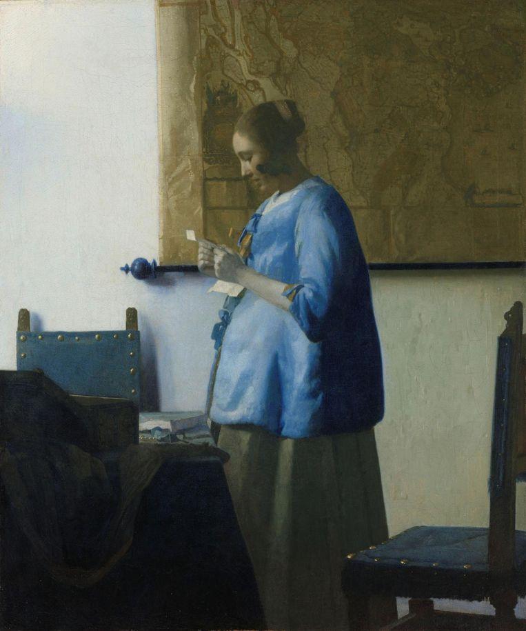 Brieflezende vrouw in het blauw, Johannes Vermeer, 1663 Beeld Rijksmuseum