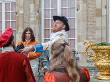 Streep door real life game op kasteel