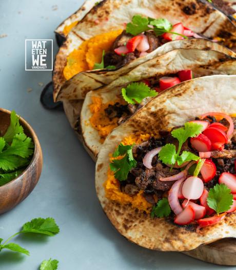Wat Eten We Vandaag: Burrito met paddenstoelen