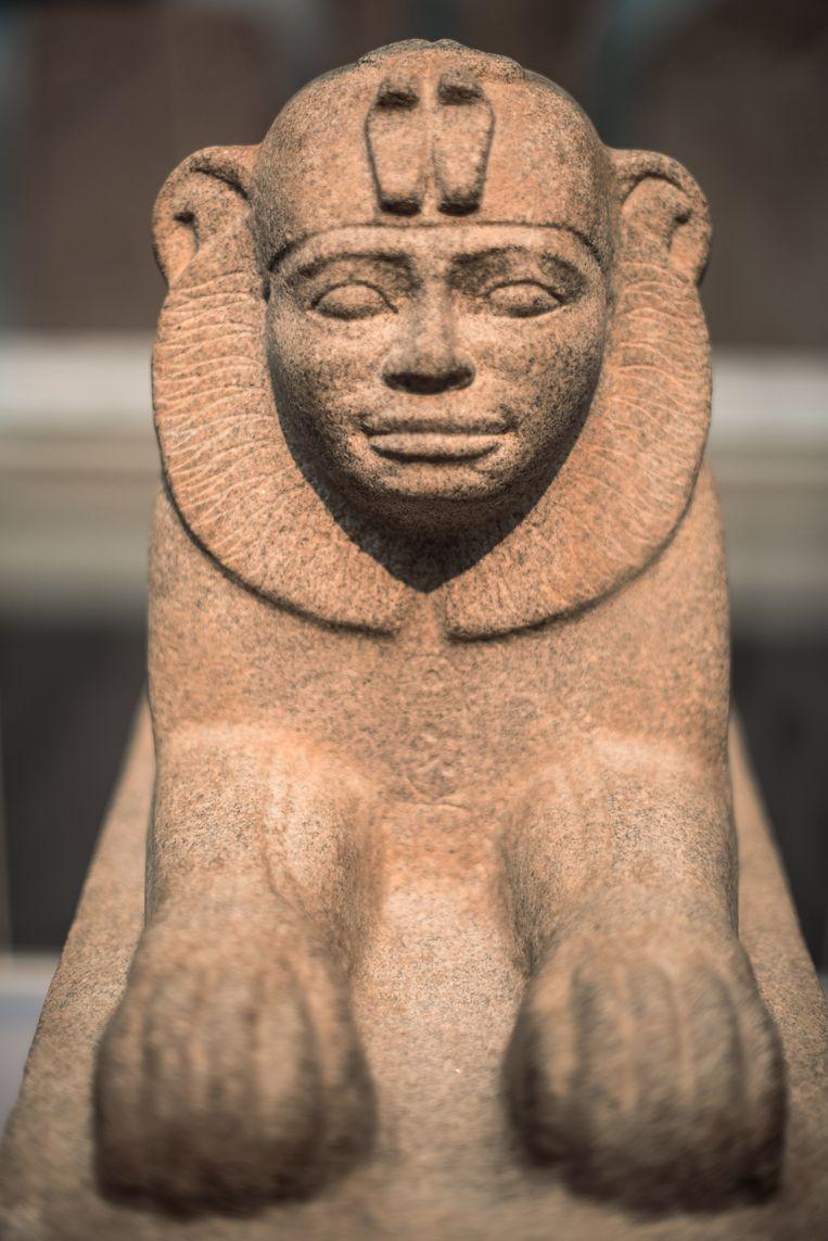 Sfinx van Taharqo, graniet, circa 680 v. Chr., British Museum Londen Beeld Image Select