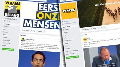 Campagne voeren op social media loont: Vlaams Belang Facebook-kampioen