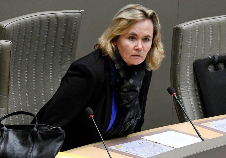 Plenaire zitting Vlaams Parlement /  Session plénière du Parlement flamand  * Liesbeth Homans  Brussels 24/01/2018 pict. by Bert Van den Broucke © Photo News