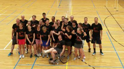 24 uur badminton voor goeie doel : Badmin-Mara-ton voor G-lymnastiek