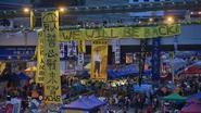 Politie Hongkong ruimt 'paraplubeweging' op