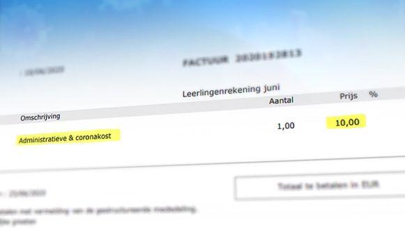 ZAVO, een school in Zaventem, stuurt ouders een factuur met 'coronatoeslag'.