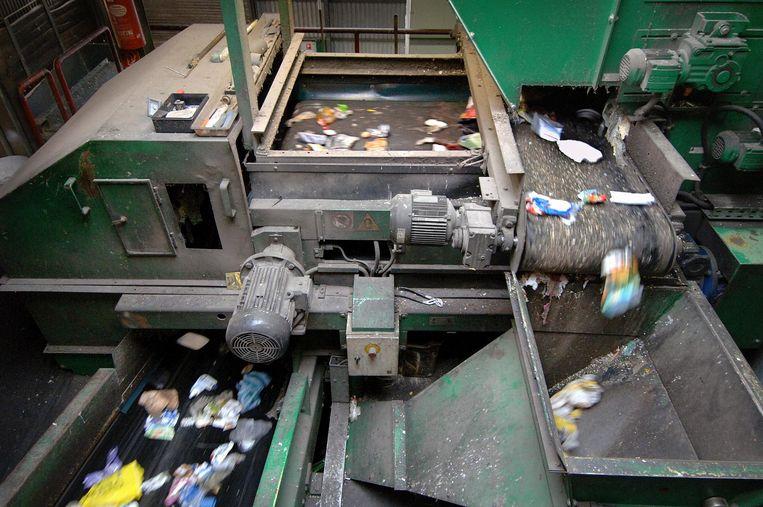 Plastic afval wordt gescheiden Beeld null