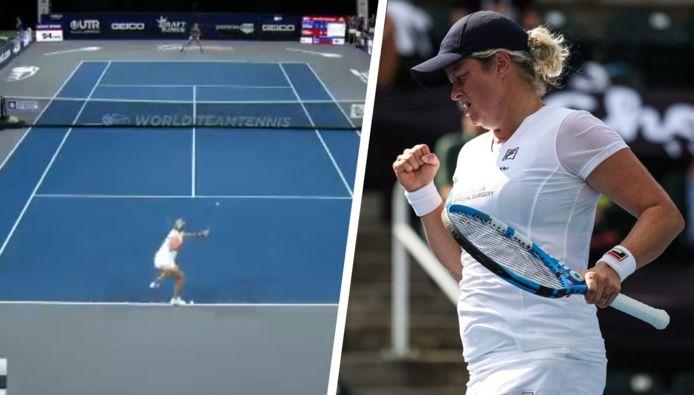 Cette fois, c'est face à Danielle Collins que Kim Clijsters a prouvé qu'elle n'était pas hors du circuit