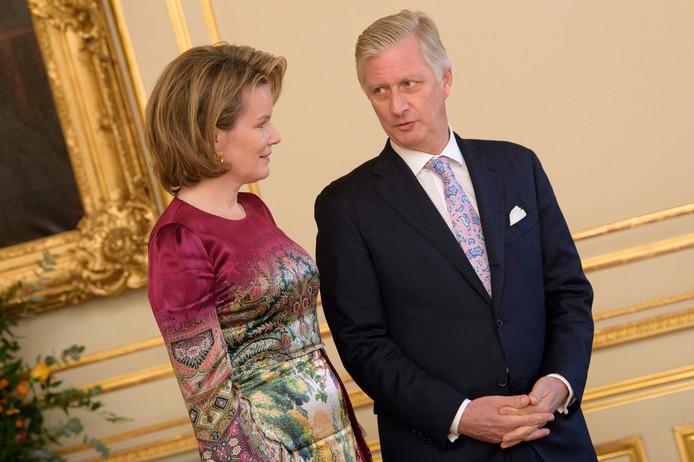 La reine Mathilde et le roi Philippe