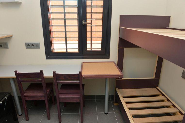 Een cel in de nieuwe vleugel van de Turnhoutse gevangenis.