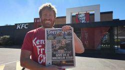 """""""Zeker ommetje waard"""": Aussie wil Michelinster voor """"meest afgelegen KFC ter wereld"""""""