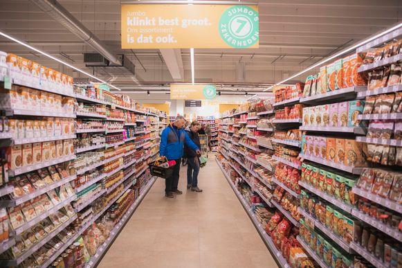 Jumbo opende vandaag een eerste supermarkt, in het Limburgse Pelt.