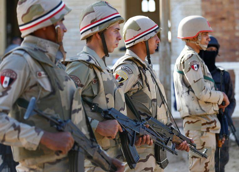 Militairen in Noord-Sinaï op 1 december 2017.