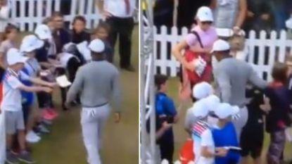 """""""Arrogante"""" Tiger Woods krijgt flink wat bagger over zich heen na weinig klassevol vertoon tegenover groepje kinderen"""
