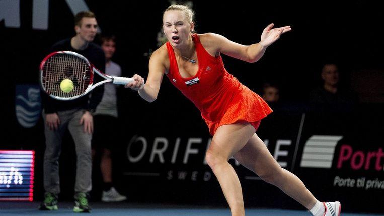 Caroline Wozniacki versloeg Petra Martic in de halve finales. Beeld epa