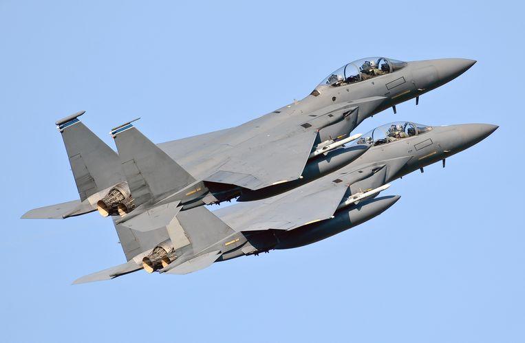Beeld ter illustratie, twee F-15's.