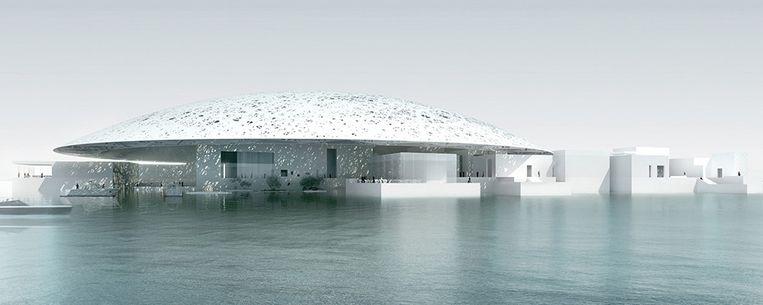 Artist's impression van Louvre Abu Dhabi. Beeld