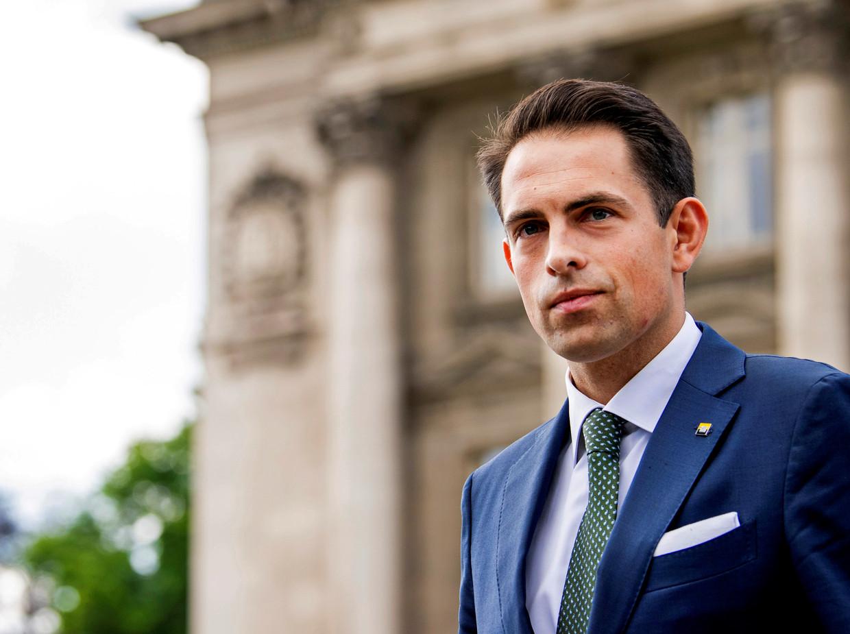 Vlaams Belang-voorzitter Tom Van Grieken. Beeld REUTERS